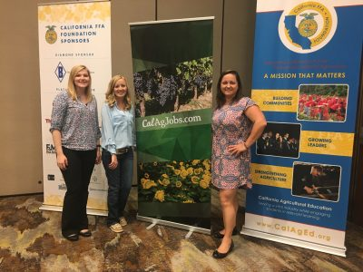 CalAgJobs Communications Intern with the team at the California FFA Alumni Event