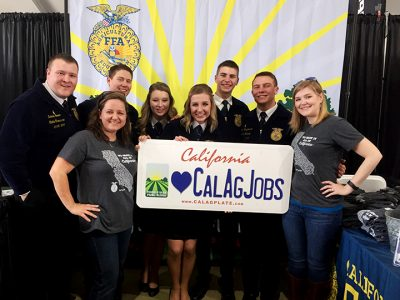 CA FFA Officers with CAJ